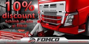 Banner 10% Discount Schimb de Ulei
