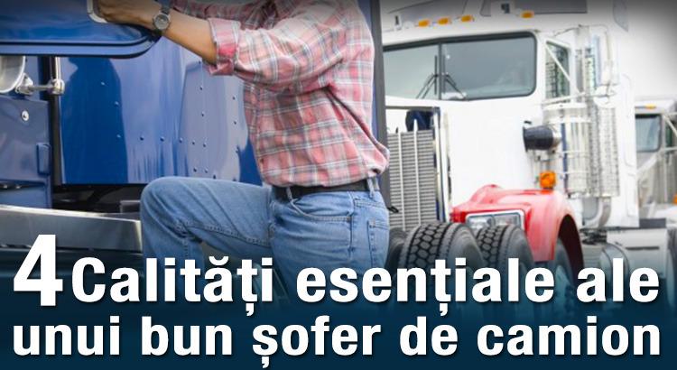 4 calități esențiale ale unui bun șofer de camion