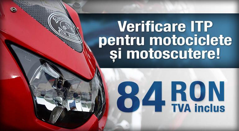 ITP pentru motociclete și motoscutere la doar 84 de lei!